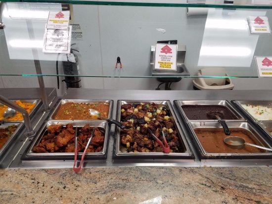 Framingham, MA: close up of the food line