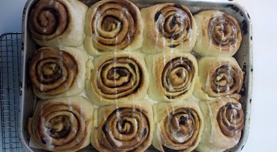 Teslin, Canada: Our cinnamon buns- a tradition here at Johnson's Crossing Lodge
