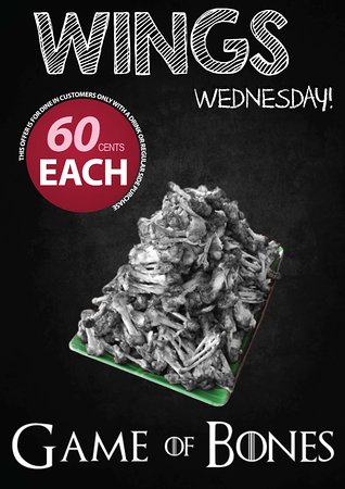 Mermaid Waters, Australia: 60cent Wings Wednesdays - Dine In Special