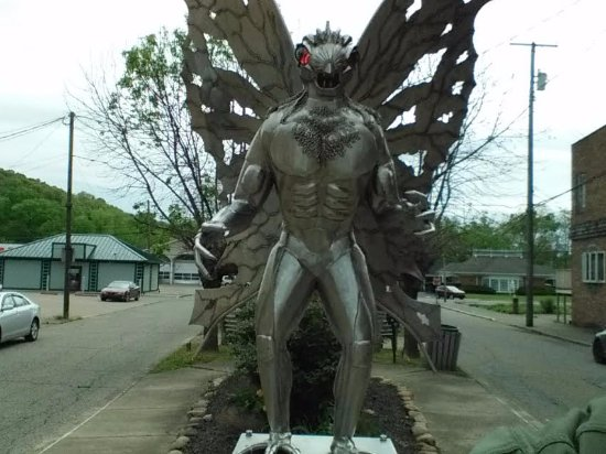 The Mothman Statue in Point Pleasant