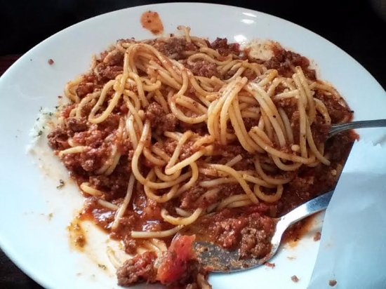 Gallipolis, OH: Daily special of Spaghetti at Tuscany Cuccini