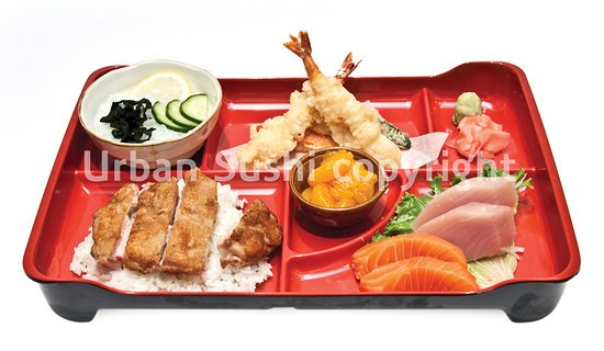 bento box sashimi picture of urban sushi vancouver tripadvisor. Black Bedroom Furniture Sets. Home Design Ideas