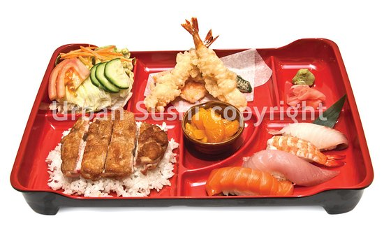 bento box sushi picture of urban sushi vancouver tripadvisor. Black Bedroom Furniture Sets. Home Design Ideas