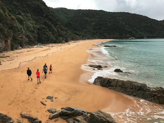 Abel Tasman National Park, Neuseeland: Beached walking