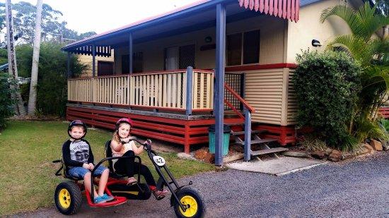 Iluka, ออสเตรเลีย: Hire trikes for the kids