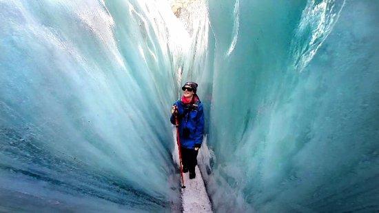 Franz Josef, نيوزيلندا: Blue ice.