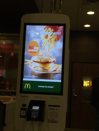 Saint Thomas, Canada: The new ordering machines. I'm not sure I like them.