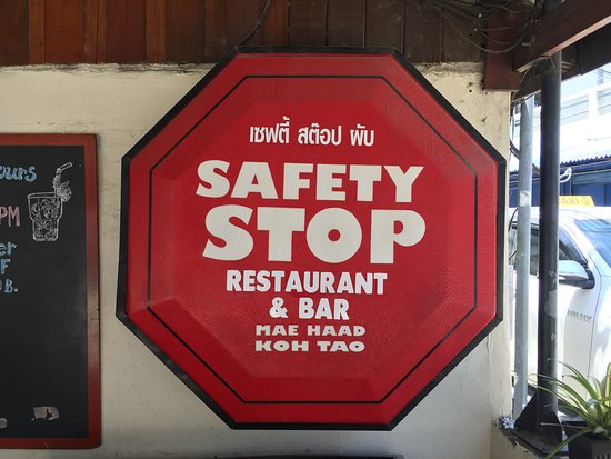 Safety Stop Koh Tao: 店內招牌
