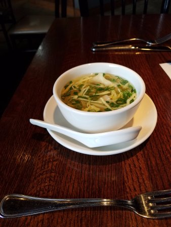 Houghton, MI: Their wanton soup was my husband's favorite part of our dinner