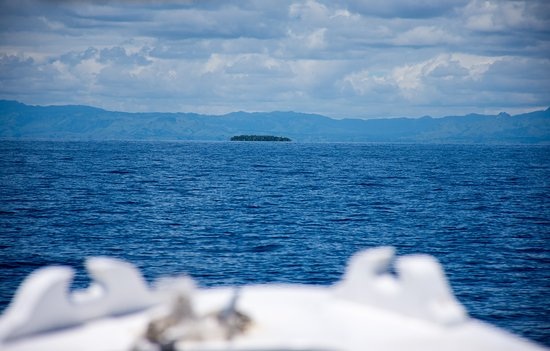 That's Navini Island Resort with Nadi in the background.