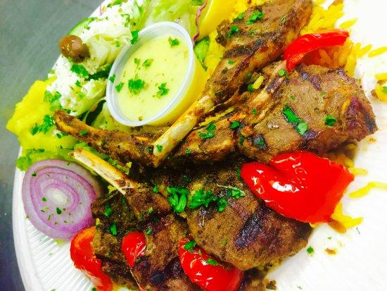 King Gyros Greek Restaurant: Lamb Chops Meal