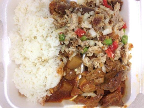 La Palma, Californien: Rice, Pork Menudo, Sisig