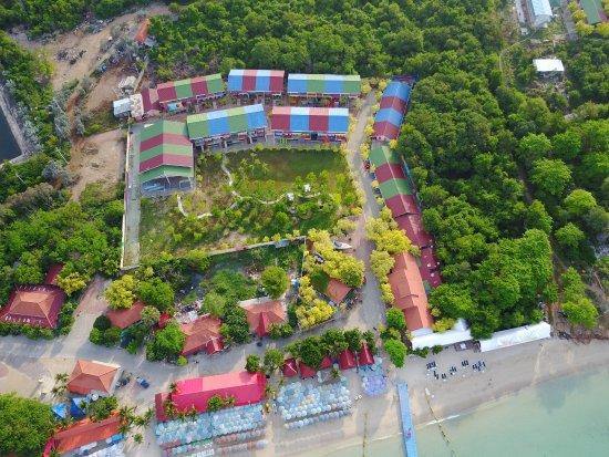 Xanadu Beach Resort Aerial View Of And Samae Colourful Cheerful Buildings