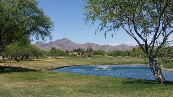 Tubac, AZ: Lovely mountain view from another of the golf courses