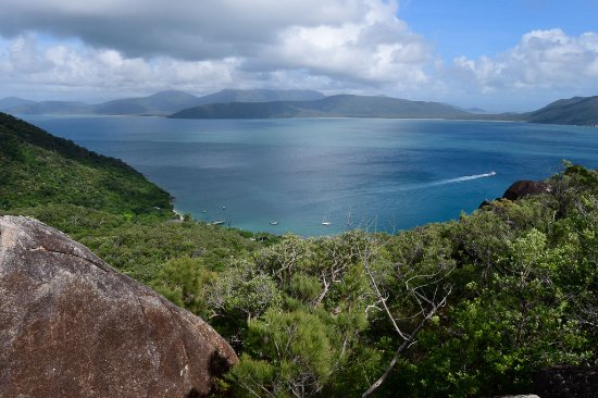 Fitzroy Island Resort: looking back toward the resort from near the summit