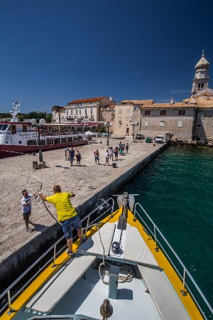Punat, Croatia: Town of Krk during the Island cruise with Croatia Excursions