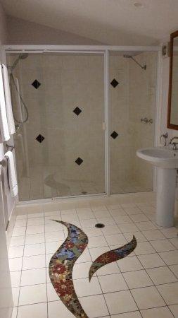 Hunchy Hideaway: ...luxury double shower.