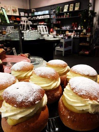 Sollentuna, السويد: Dessert-Hemgjord Semla