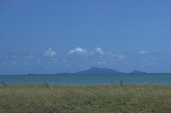This is the scenery when standing in Bucasia's Parkland.