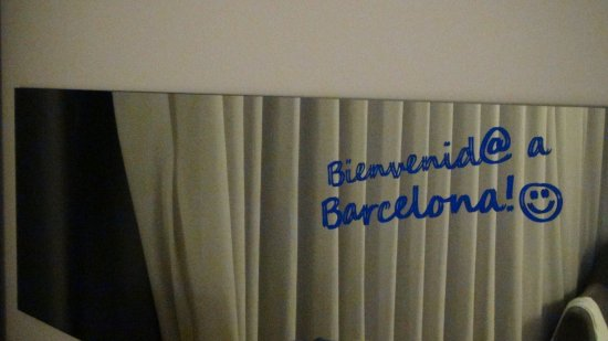 El Prat de Llobregat, Spania: 歓迎の文字がありました