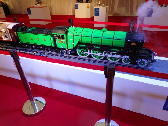 Tenterden, UK: Lego Flying Scotsman model.