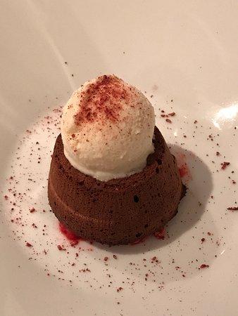 Tavarnuzze, Italië: Tortino al cioccolato fondente