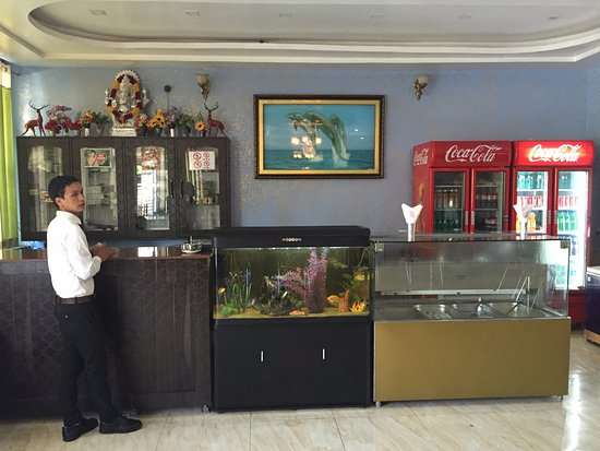 Reception desk of Welcome Restaurant, Pantnagar