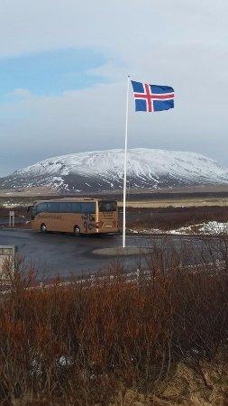 BusTravel Iceland: Golden circle - stop at Kerið volcanic crater