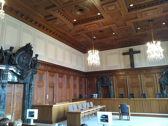 Nuremburg Trial Courthouse: The present trial room