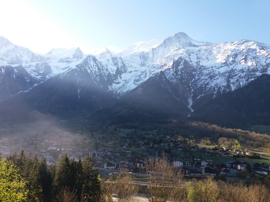 Les Houches, France: Vue magnifique depuis la chambre: il est 8h15