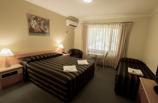 Kings Park Motel: Twin room (sleeps 3 people)