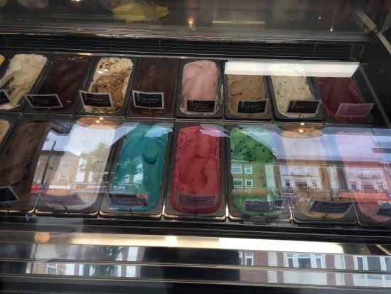 Ruislip, UK: WAFFLES-GELATO-SORBET-BAGUETTE-PANINI-COFFEE-TEA-MILKSHAKE-SMOOTHIE