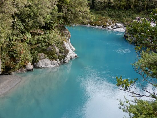 First view of Hokitika Gorge from the top.