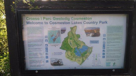 Penarth, UK: Info board at ;lakes edge