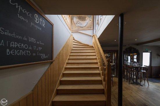 Uccle, Belgien: Escalier menant à la terrasse