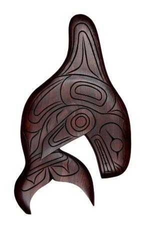 Surrey, Canada: Orca Squamish carved.