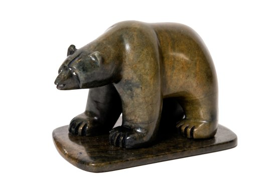 Surrey, Canada: soapstone carving bear by Moose