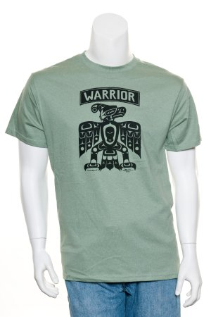 Surrey, Canada: Warrior Tee-shirt by Hill, Gord, Kwakwakawakw