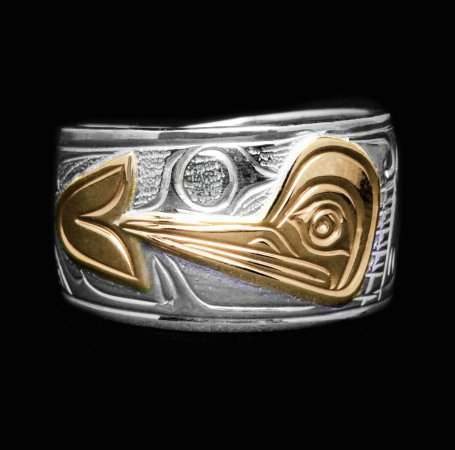 Surrey, Canada: Handcarved silver Hummingbird ring by Harper, Carrier Native
