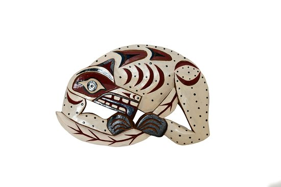 Surrey, Canadá: Wolf hand carved Nanaimo Native made, by Good