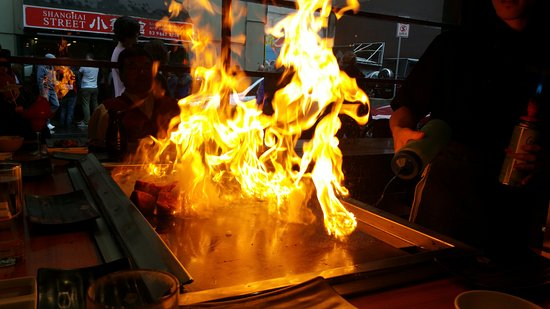97802a99f Fire in the hole! - Picture of Ginza Teppanyaki, Melbourne - TripAdvisor