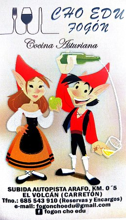Arafo, Hiszpania: Restaurante Asturiano