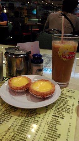 Honolulu Coffee Shop: 蛋塔與咖啡