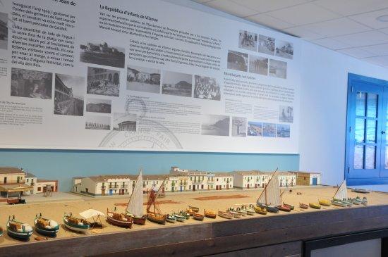 Maqueta fachada Marítima de Calafell hacia 1940