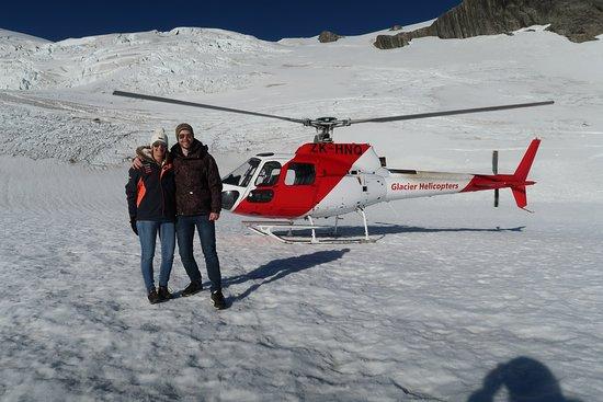 Fox Glacier, نيوزيلندا: Snow landing
