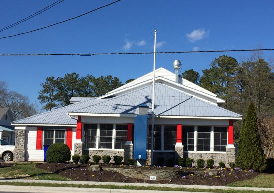 Our new location, 2.4 miles west of Bethany Beach, 111 Atlantic Ave.  Look for red shutters!