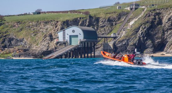 Padstow Sealife Safari: Checking out the lifeboat station at Trevose Head
