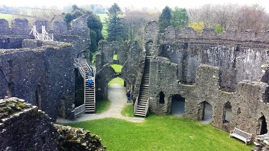Lostwithiel, UK: Inside castle.