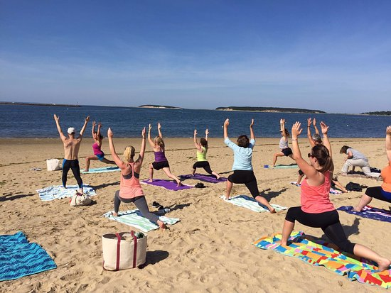 Wellfleet, MA: Yoga on the beach
