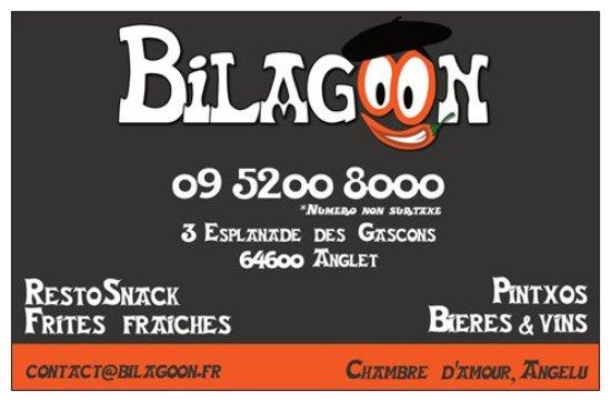 carte de visite et au recto carte de fid lit picture of bilagoon anglet tripadvisor. Black Bedroom Furniture Sets. Home Design Ideas